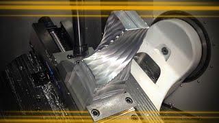 STUNNING 5 Axis Simultaneous Shell Mill Roughing | CNC Machining + Mastercam Tutorial