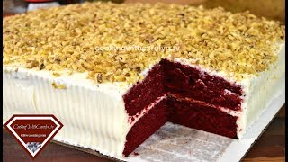 MY 1st RED VELVET SHEET CAKE | HOW TO MAKE A SHEET CAKE |PRACTICING MY SKILLS |Cooking With Carolyn