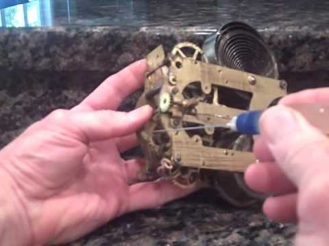 clock repair video how to oil an antique mantel clock. Black Bedroom Furniture Sets. Home Design Ideas