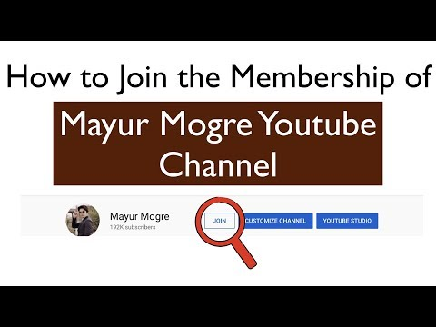 How to Join the Membership of Youtube Channel | Premium Membership | Mayur Mogre