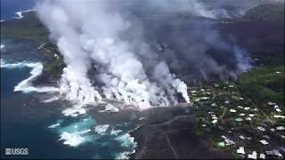 Kīlauea Volcano — Video Compilation of Kapoho Bay Ocean Entry