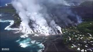 Kīlauea Volcano — Video Compilation of Kapoho Bay Ocean Entry