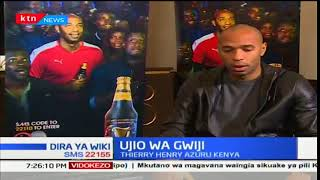 Mchezaji gwiji wa klabu ya Arsenal Thierry Henry azuru Kenya kwa hisani ya Guinness