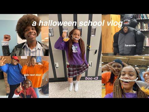 a late (but worth it) halloween school vlog | seasonsofshai