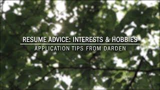 Resume Advice: Interests & Hobbies