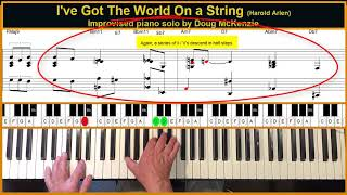 I've Got The World On A String - Jazz piano tutorial