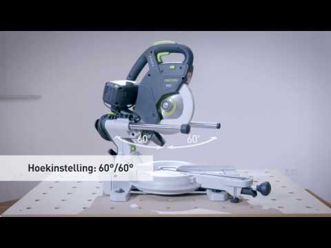 Festool Kapex KS 60 E-SET radiaal afkort- & verstekzaagmachine