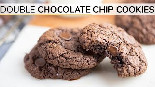 DOUBLE CHOCOLATE CHIP COOKIES | Gluten-free Cookie Recipe