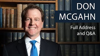 Don McGahn | Full Address and Q&A | Oxford Union