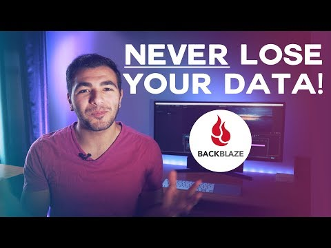 NEVER LOSE YOUR DATA! | Backblaze Cloud Backup Review