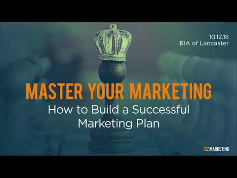 Master Your Marketing: How Build a Marketing Plan – Fall Session