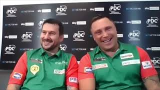 """Gerwyn Price & Jonny Clayton: """"There's pressure on the Scots not being the two who won it last year"""""""