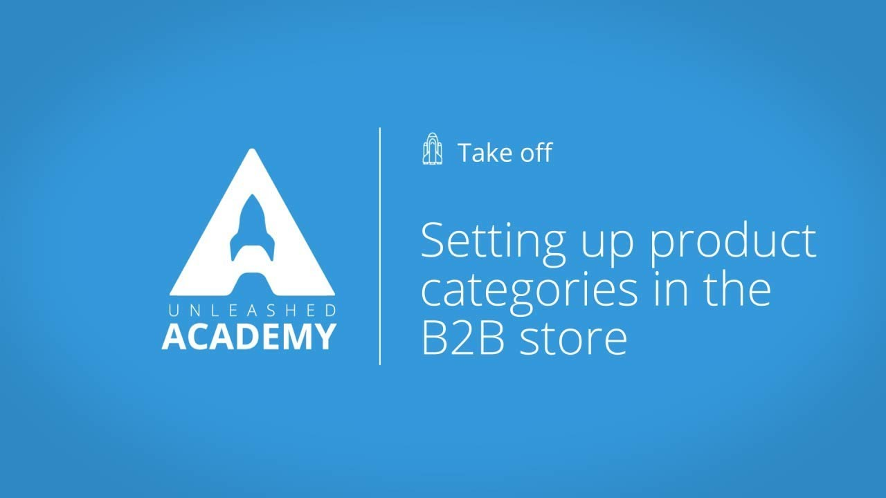 Setting up product categories in the B2B store YouTube thumbnail image