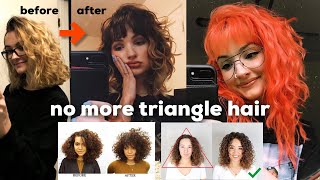 THE BEST HAIRCUT FOR WAVY HAIR how to avoid triangle hair