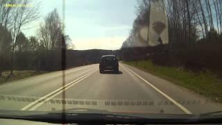 preview picture of video 'Miodówko, DK 51, 4 Kwietnia 2014 r. - Śpieszące się białe Porsche'