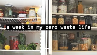 A WEEK IN MY ZERO WASTE LIFE // waste free routines & habits