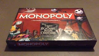 Monopoly The Nightmare Before Xmas Edition Unboxing