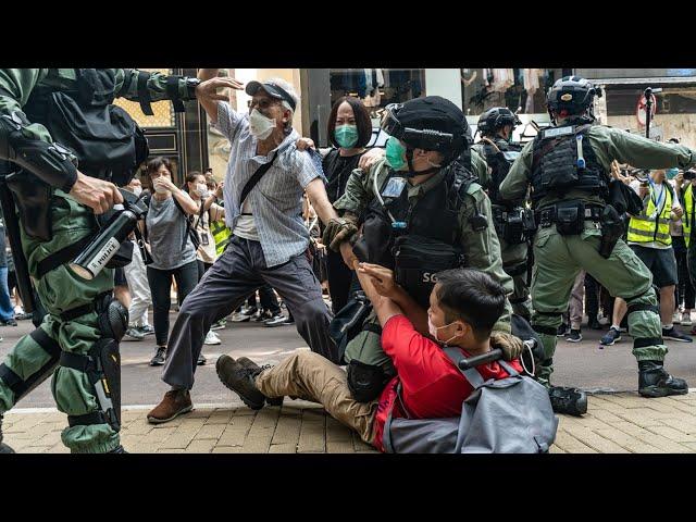 Incidentes y detenidos en Hong kong