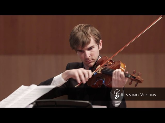 "Violinist Alex Granger Performs ""4 Pieces for 2 Violins"" on a Violin Crafted by Eric Benning"