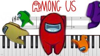 어몽어스BGM 매우쉬운피아노악보