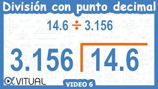 División Con Punto Decimal Ejemplo 6 De 6 | Aritmética - Vitual