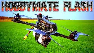 "✅ ""Подгорело"" от Шести Банок! FPV Квадрокоптер HOBBYMATE Flash Hybrid 5 4-5S"