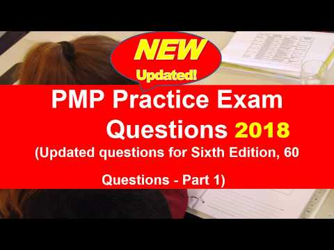 PMP Exam Questions Updated on June 2018 for PMBOK 6th Edition ...