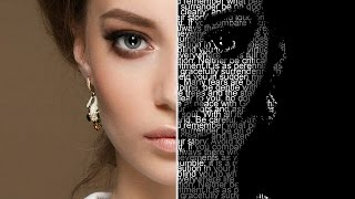Photoshop Tutorial: How to Create Your Own, Custom Text Portrait Poster (Style #3)
