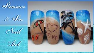Summer Nails 2020 - Sea Nail Art - How To Create Easy Summer & Sea Nail Art