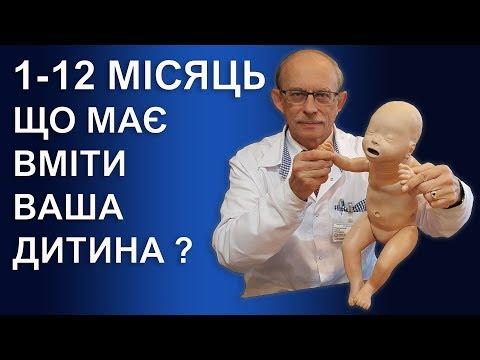 Розвиток дитини по місяцях - таблиця розвитку дитини 1, 2, 3, 4, 5.... 12 місяць