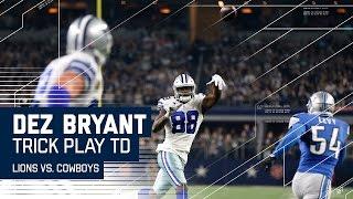 Dez Bryant Throws TD to Witten!    🚨Trick Play Alert🚨    Lions vs. Cowboys   NFL Week 16 Highlights