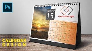 Calendar Design In Photoshop And Illustrator | Desk Calendar Design