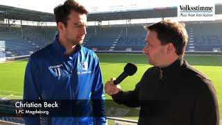 Christian Beck vor FCM-Spiel