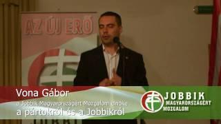 preview picture of video 'Vona Gábor, a JOBBIK elnöke a pártokról és a Jobbikról - Balatonalmádi, 2009.05.24.'