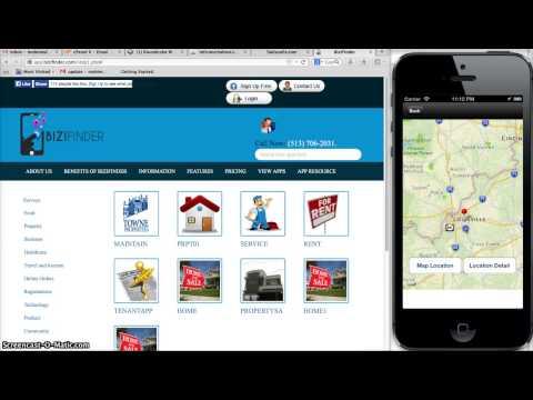 Video of Mobile App Builder- BiziFinder