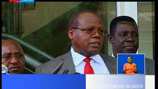 KNH has lifted the suspension of 4  doctors who were part of the  mix up in the  brain surgery