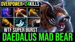 WTF Daedalus For Mad Bear [Ursa] Super Burst Mode 24KIlls By Sccc 7.19d | Dota 2 Highlights