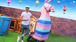 Fortnite in REAL LIFE w/ Ali-A! - (Llamas, Supply Drops + MORE)