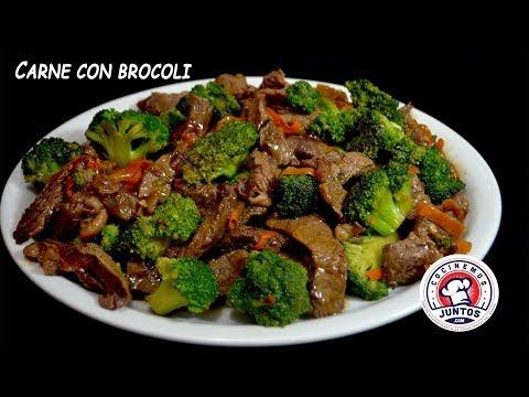 Como hacer Carne con Brocoli.  Rica comida China