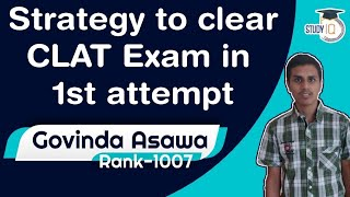 CLAT Topper Interview - Strategy to clear CLAT exam in 1st attempt by Govinda Asawa, Rank 1007