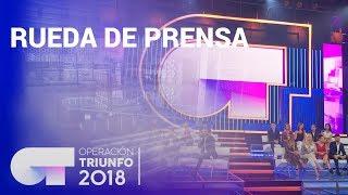 Rueda de prensa de OT 2018