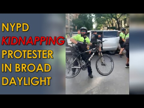 NYPD Kidnaps Protester and throws them into Unmarked Van