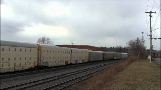 preview picture of video 'CSX Eastbound Autorack at East Syracuse, NY'