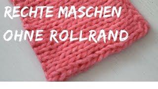 Rechte Maschen ohne Rollrand | Strickmuster für Schal | #57