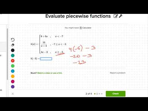 Evaluating piecewise defined functions (Hindi) (video