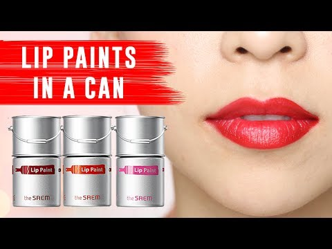 LIP PAINTS IN A CAN! 💋 Tina Tries It