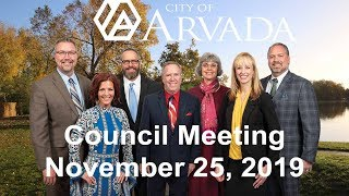 Preview image of City Council Meeting -  November 25, 2019