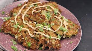 Japanese Cabbage Fritters (Okonomiyaki)