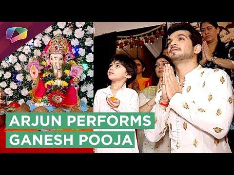 Arjun Bijlani Performs Ganesh Pooja With Family