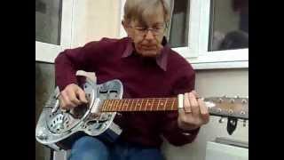 Walking Blues on acoustic Dobro in open 'D'